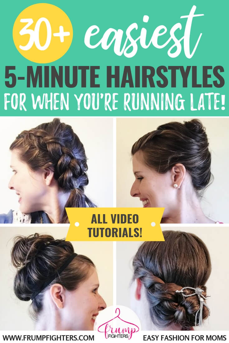 30 Simple Easy Hairstyles For Moms Using Wet Hair Step