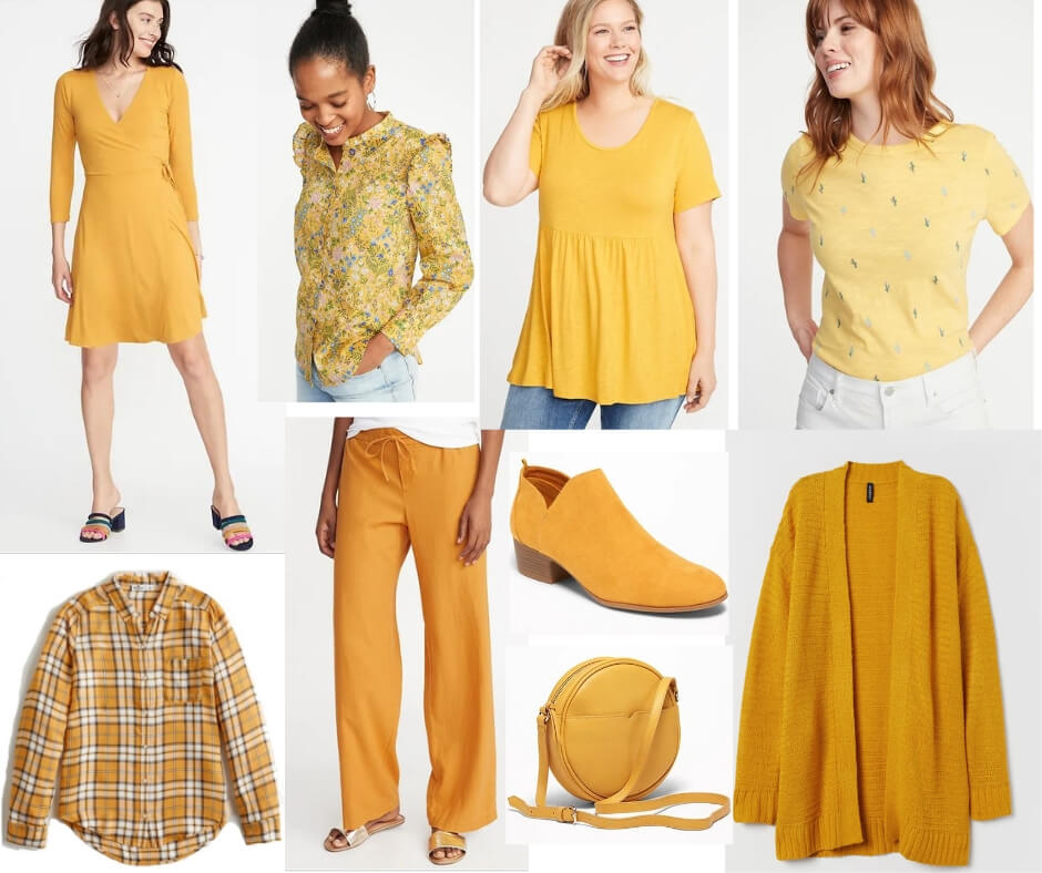 Fashion Forecast for Spring & Summer 2019 includes all shades of yellow.  It's easy to include this trend in your closet for a chic, casual look. #style #trends #wardrobe #2019colors