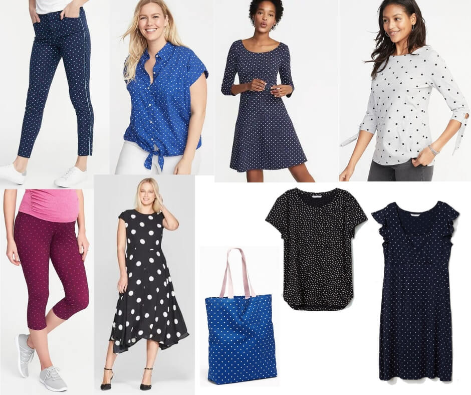Fashion Forecast for Spring & Summer 2019 includes polka dots as a popular pattern.  It's easy to include this trend in your closet for a chic, casual or dressy look. #style #trends #wardrobe #2019
