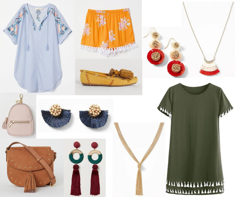 5fe86d3847f9 Fashion Forecast for Spring   Summer 2019 includes tassels on clothing and  accessories. It s easy