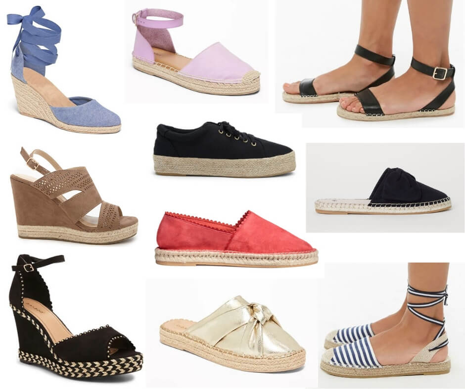 Fashion Forecast for Spring & Summer 2019 includes a lot of espadrilles!  It's easy to include this trend in your closet for a chic, casual or dressy look. #style #trends #wardrobe #2019 #shoes