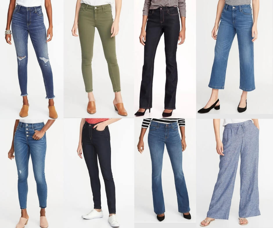 Fashion Forecast for Spring & Summer 2019 skinny jeans, boot cut, and wide legs.  It's easy to include this trend in your closet for a chic, casual or dressy look. #style #trends #wardrobe #2019