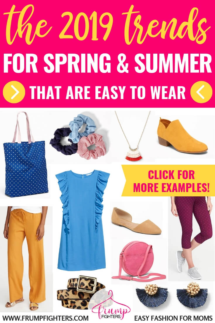 How can I be trendy this spring & summer without buying a whole new wardrobe? I love this blog which shows me the current trends and how easy it is to update a few pieces in my closet to fit the new season! #casual #spring #summer #capsule #momlife #fashion #clothes #trends #style