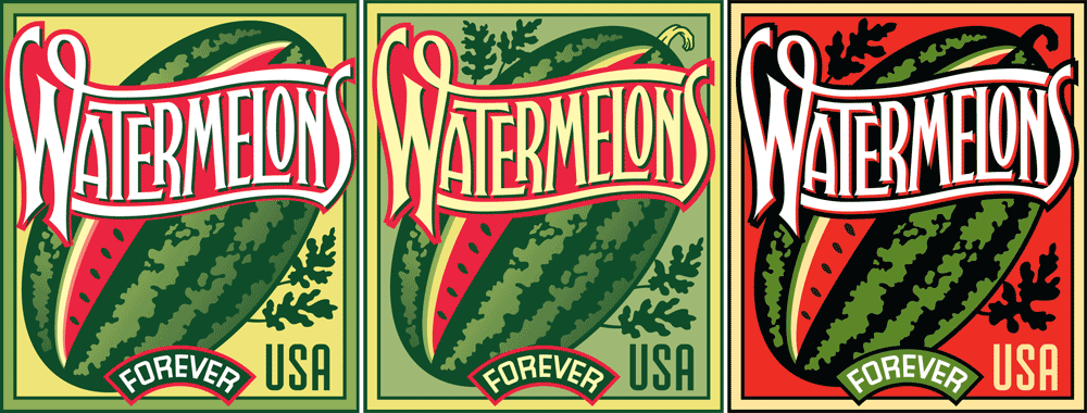 Watermelon Color Comps