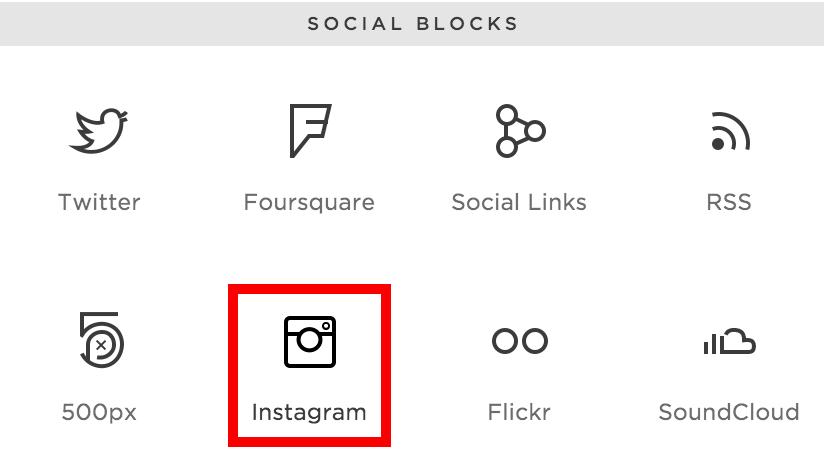 Squarespace social block for Instagram - Mod Square Design