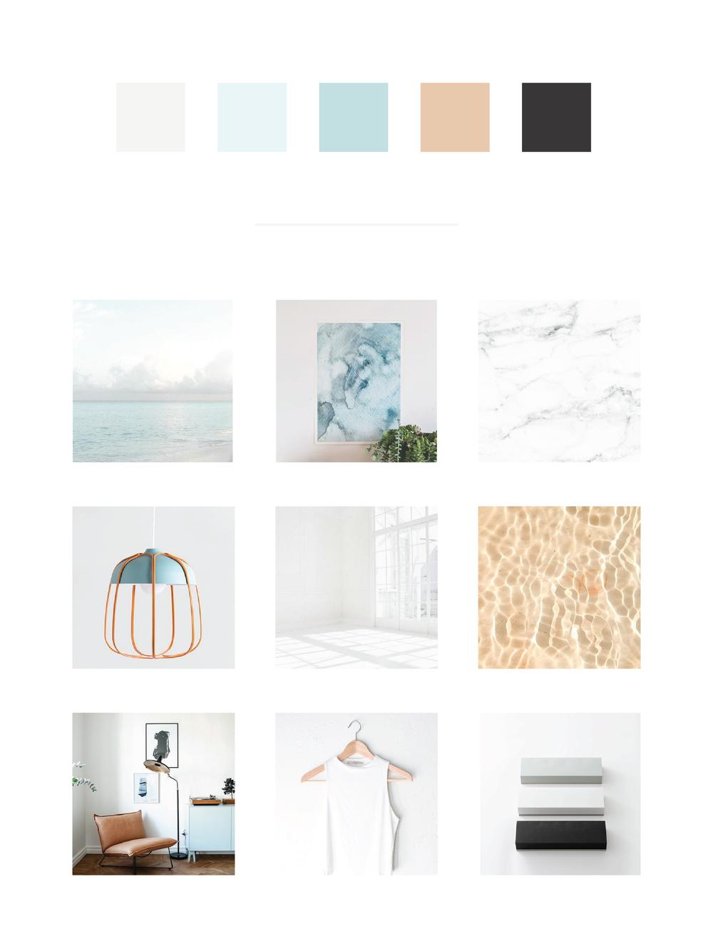 Mod Square Design navy, teal, sky blue color palette