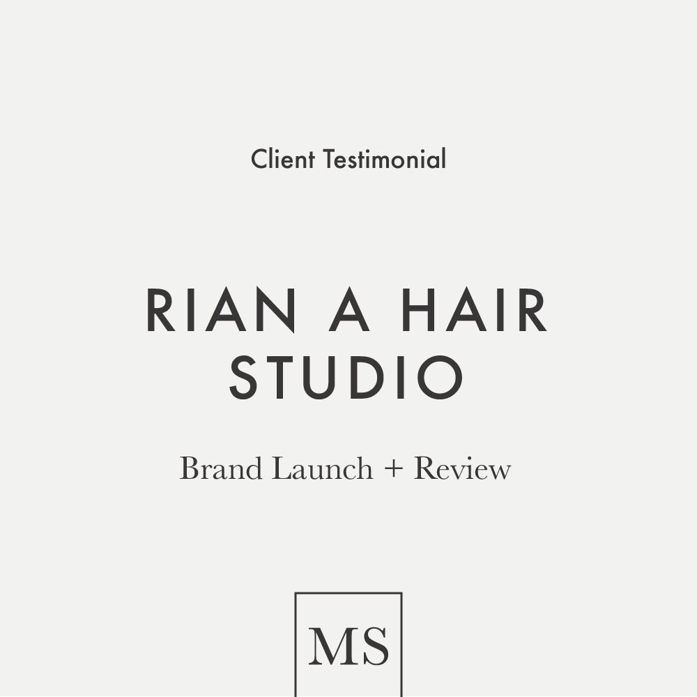 A client review from Rian A Hair Studio in Akron, Ohio on working with Mod Square Design.
