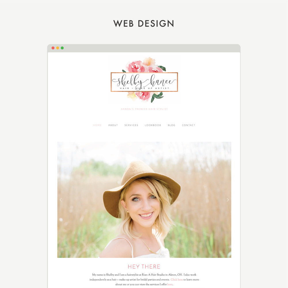 Squarespace designers Mod Square Design – project for Shelby Hance Hair + Makeup Artist