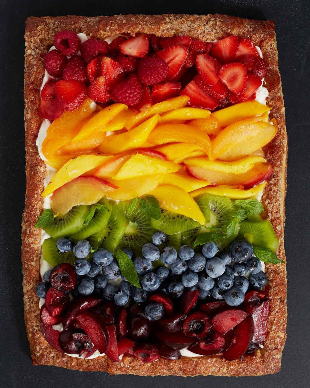 Rainbow tart!