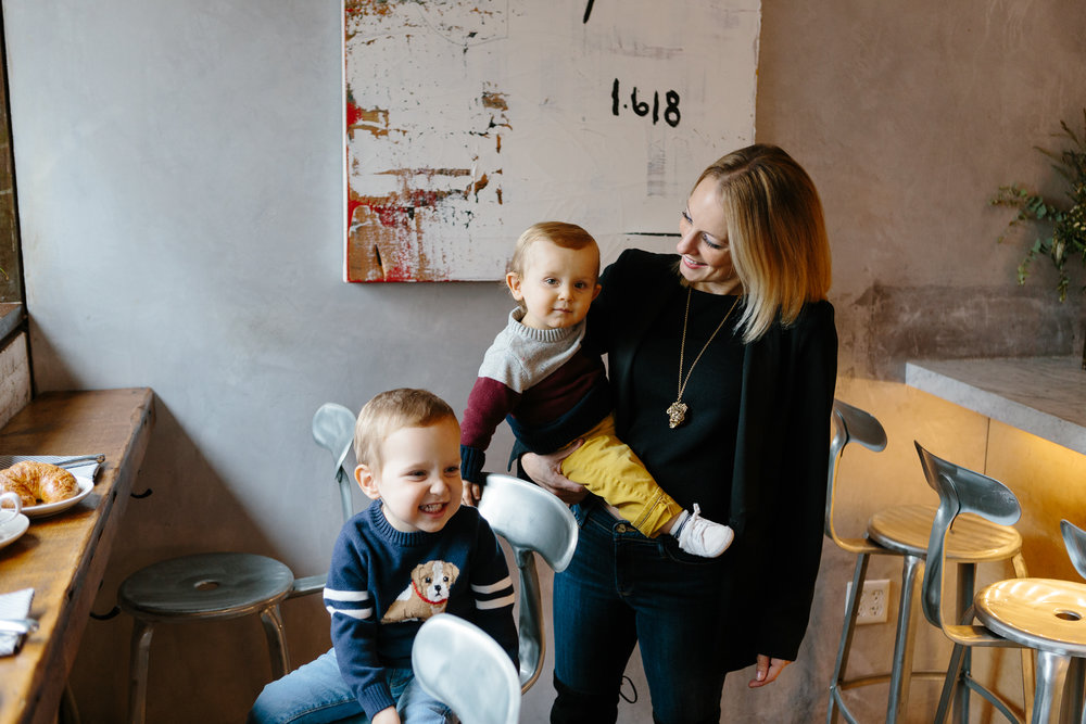 "Manhattan : Ali  A Partner at Nibble+squeak, Ali is the Head of Events and Community.  Ali and her husband Rich have two young sons, Benjamin and Asher.  When not ""bjorning"" her way around Manhattan Ali and her family spend time in upstate NY at their cattle farm."