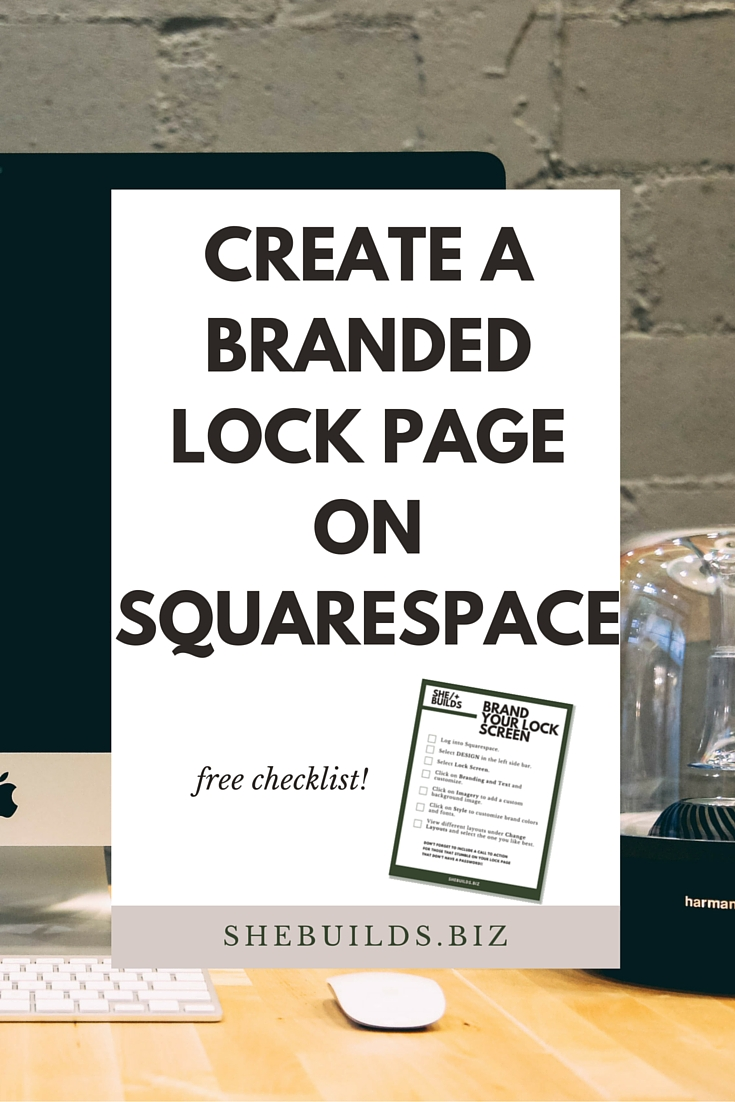Create a Branded Lock Page on Squarespace