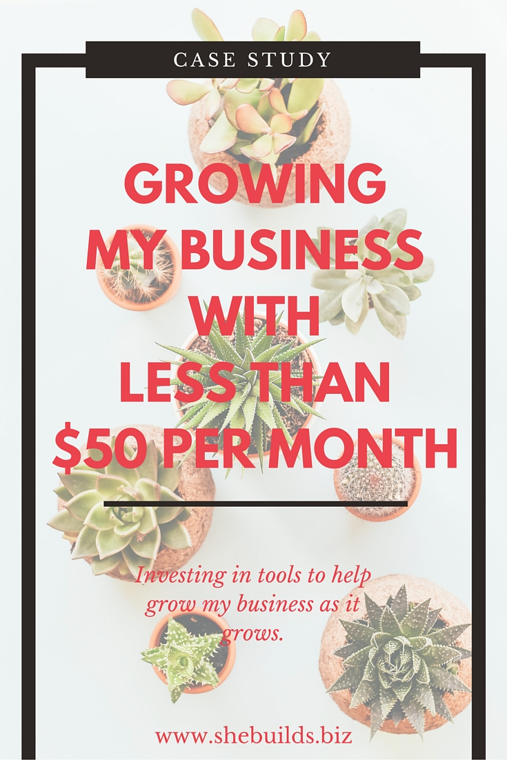 Growing my business with less than $50 per month