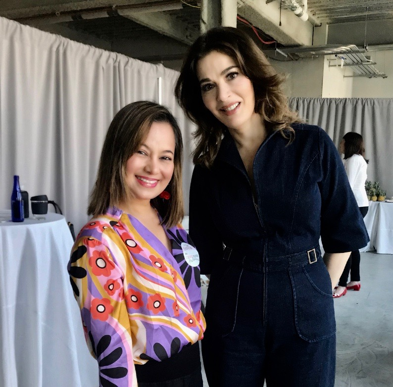 Local chef and businesswoman, Emshika Alberini pictured with Food Network TV personality Nigella Lawson at Cherry Bombe Jubilee, a New York City conference dedicated to women in the food industry. Alberini owns Chang Thai Café and POP-M in Littleton.