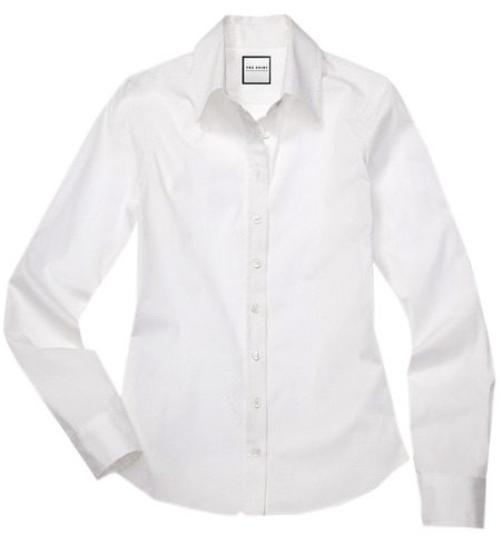 Bonus!  This shirt is a go-to and can be layered under jackets, vests, sweaters and dresses for an instant professional look!