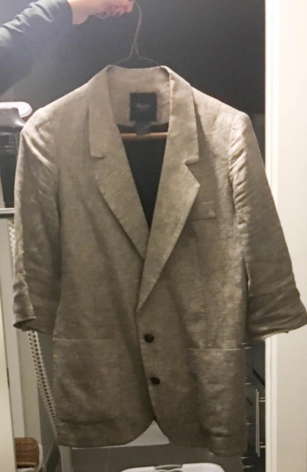 Gray Metallic Short Sleeve Blazer  Edited.jpg