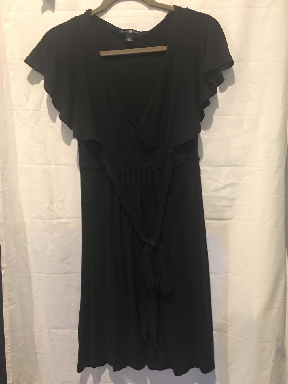Gap V-Neck Ruffle Black Dress.jpg