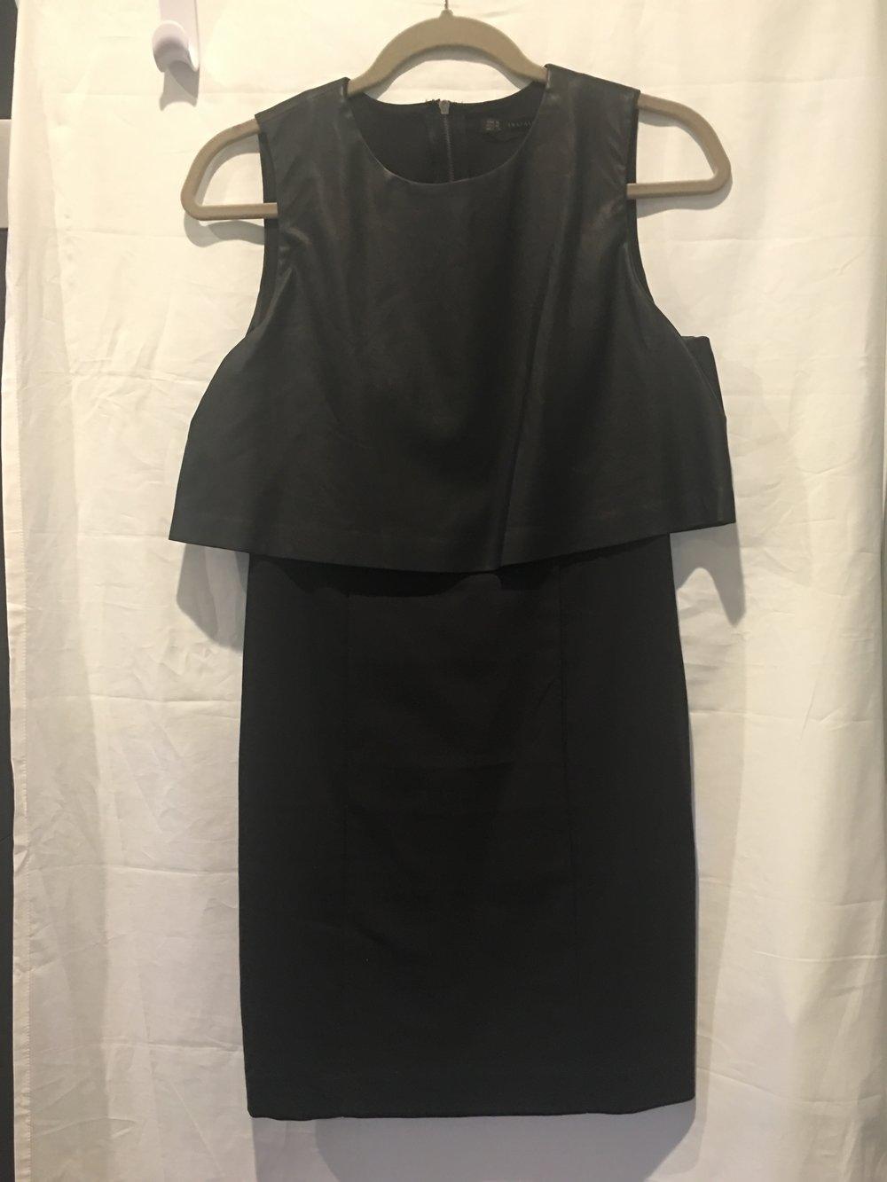 Zara Black Leather top dress (faux 2 piece).jpg