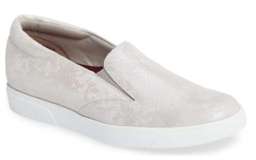 These are so cool. Easy slip-ons with a subtle snakeskin print.