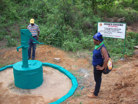 A Picture of the Installed Well