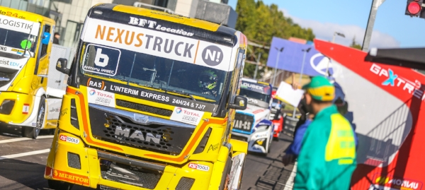 The Lion racing team, sponsored by NEXUSTRUCK, in action in Madrid