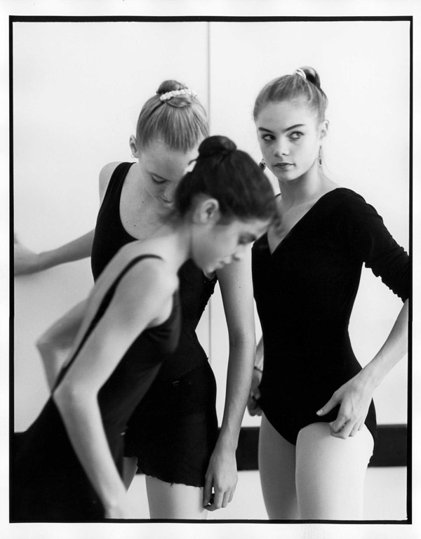 BALLET  MH6d--Three-Dancers-at-The-Rosen-Box--School-of-American-Ballet-December-1986-Photograph-by-©michaelhalsband,2013.jpg