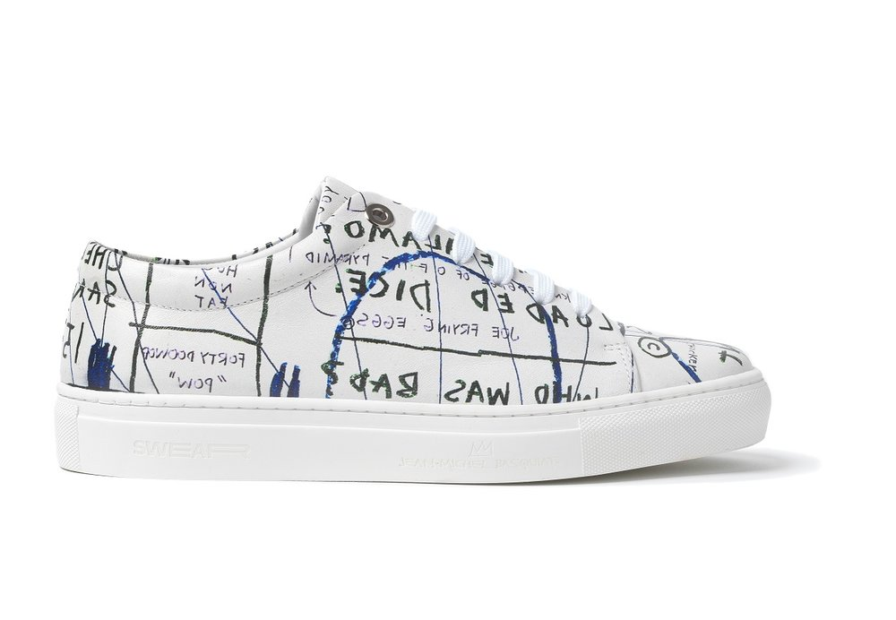 BASQUIAT - LOW TOP SNEAKER WHITE - WHITE M - BROWNS FASHION - SIDE.jpg