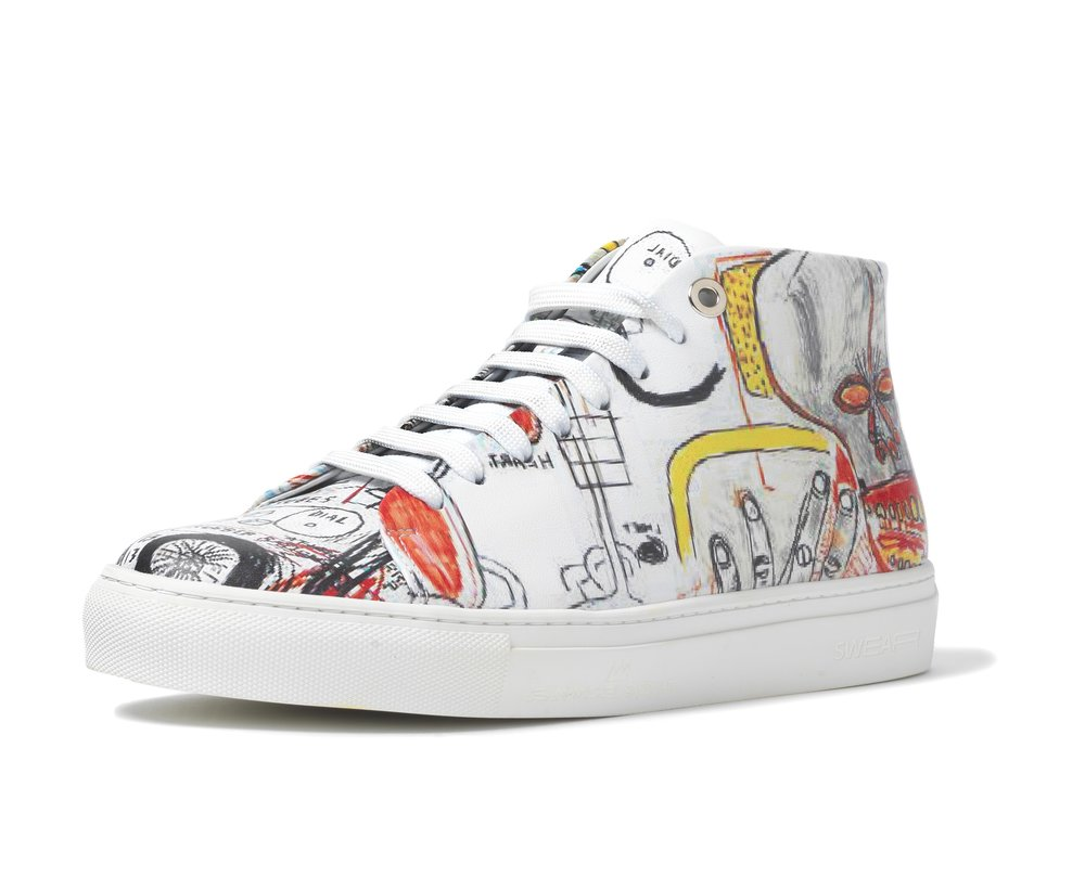 BASQUIAT - HIGH TOP SNEAKER WHITE - WHITE M - £225 - BROWNS FASHION.jpg