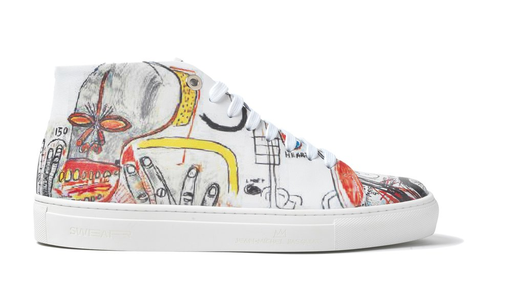 BASQUIAT - HIGH TOP SNEAKER WHITE - WHITE M - £225 - BROWNS FASHION - SIDE.jpg