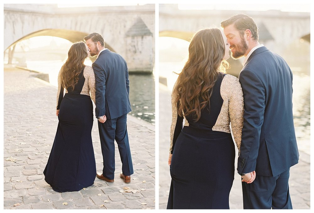 Our Sunrise Engagement Session Along the Seine in Paris | Paris, France | Andrea Rodway Photography