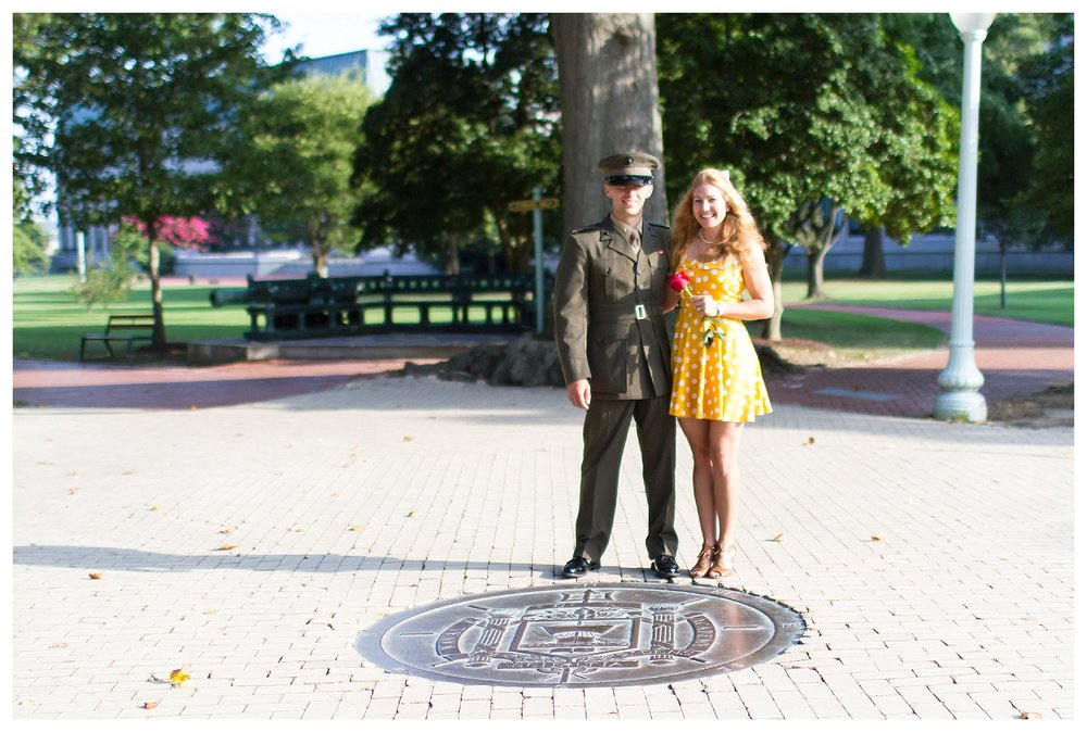 USNA Naval Academy Engagement | Andrea Rodway Photography