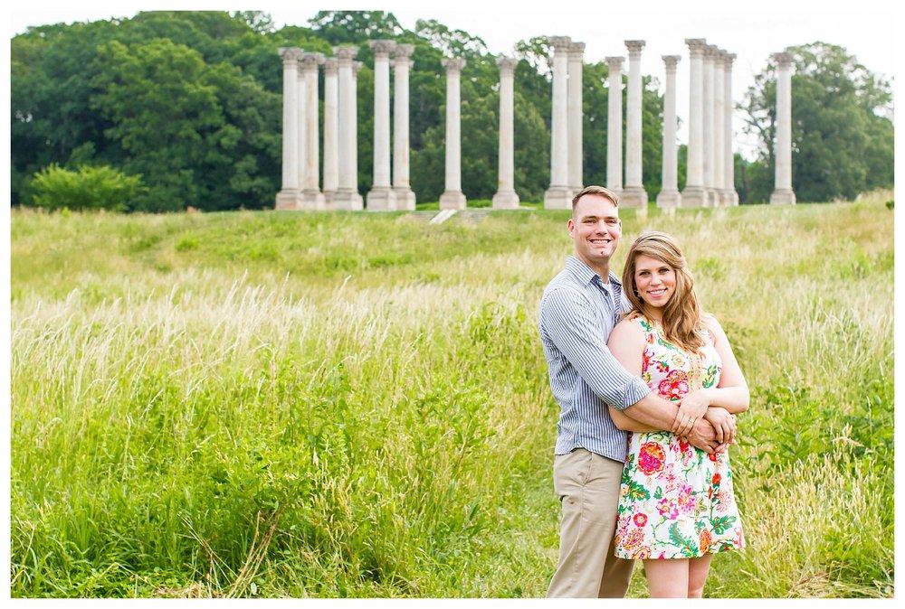 National Arboretum Engagement Photos | Andrea Rodway Photography