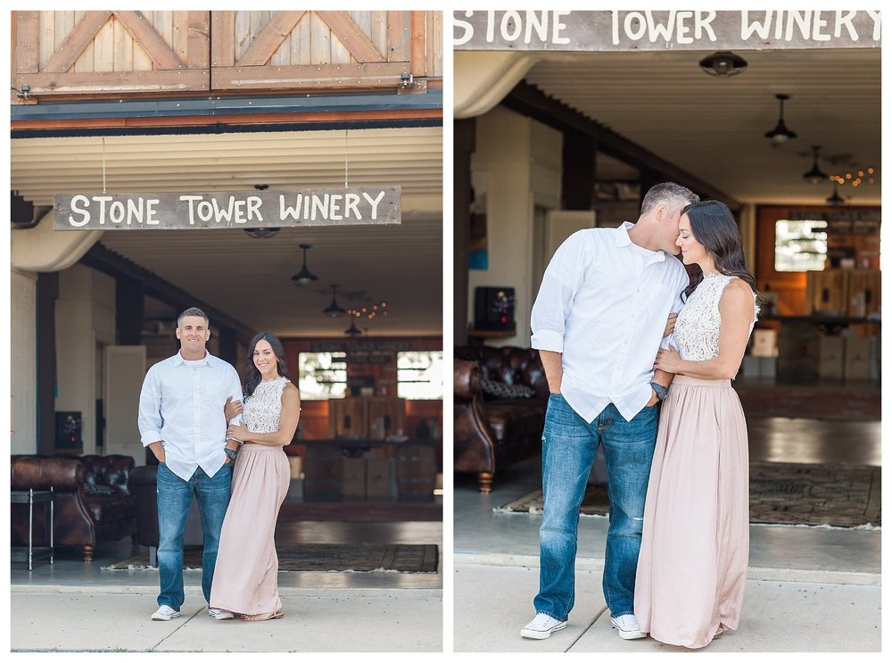 Stone Tower Winery Engagement  | Andrea Rodway Photography