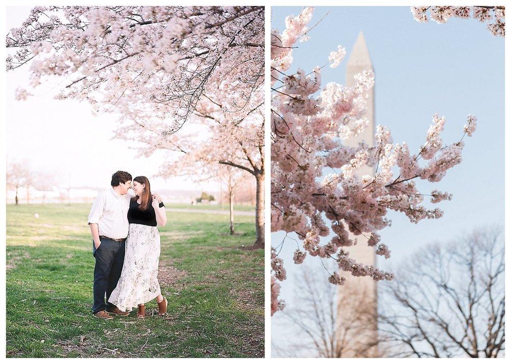 Cherry Blossom Engagement Photos Virginia Wedding Photographer Andrea Rodway Photography