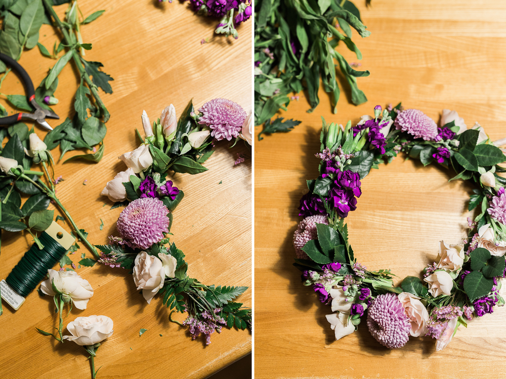 DIY Flower Crown | Boston Wedding Photographer