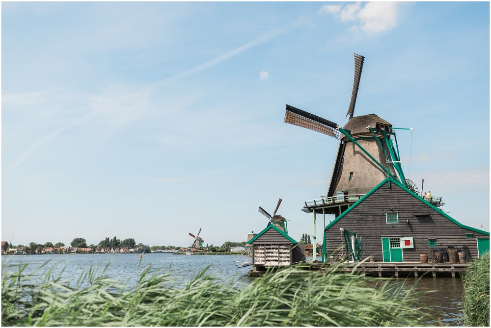 Scenic Windmill in Dutch Countryside