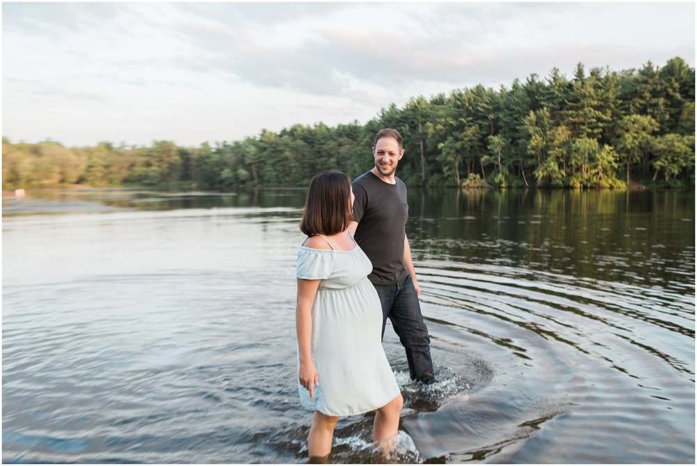 Lakeside Maternity Session + Boston Maternity Photographer