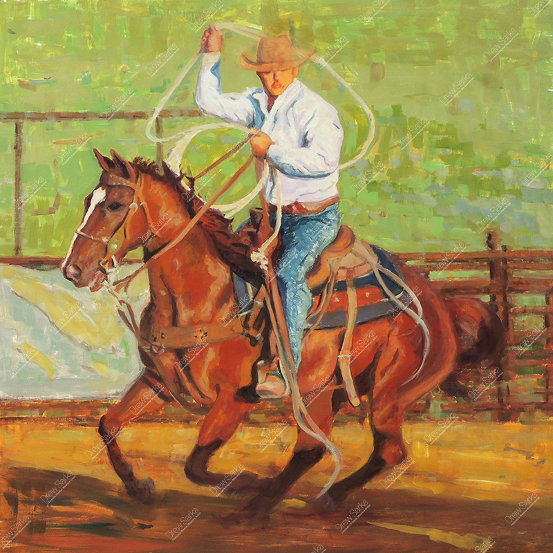 Ready To Rope, 30x30