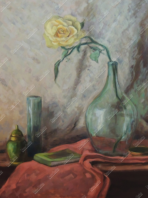 Still Life With Single Rose, 18x24