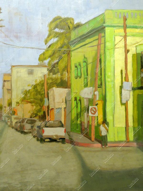 Quiet Street Mexico, 18x24