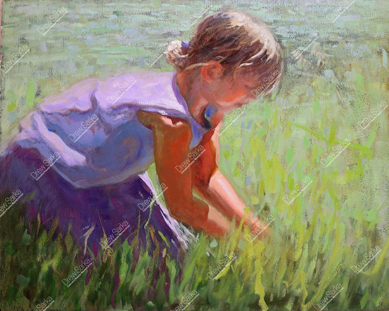 Catching Grasshoppers, 16x20