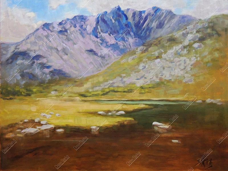 Glacial Lake, 18x24