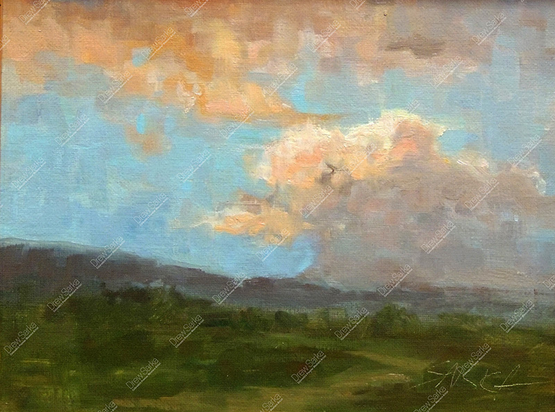 San Luis Valley Sunset, 8x10