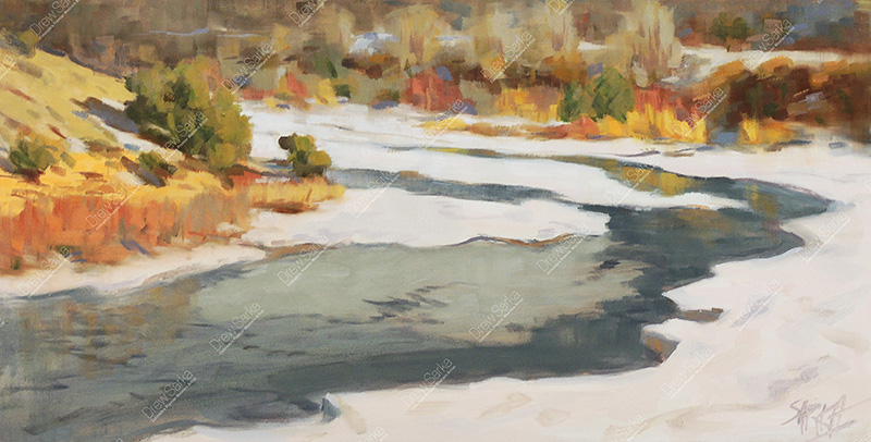 The Thaw, Colorado River, 12x24