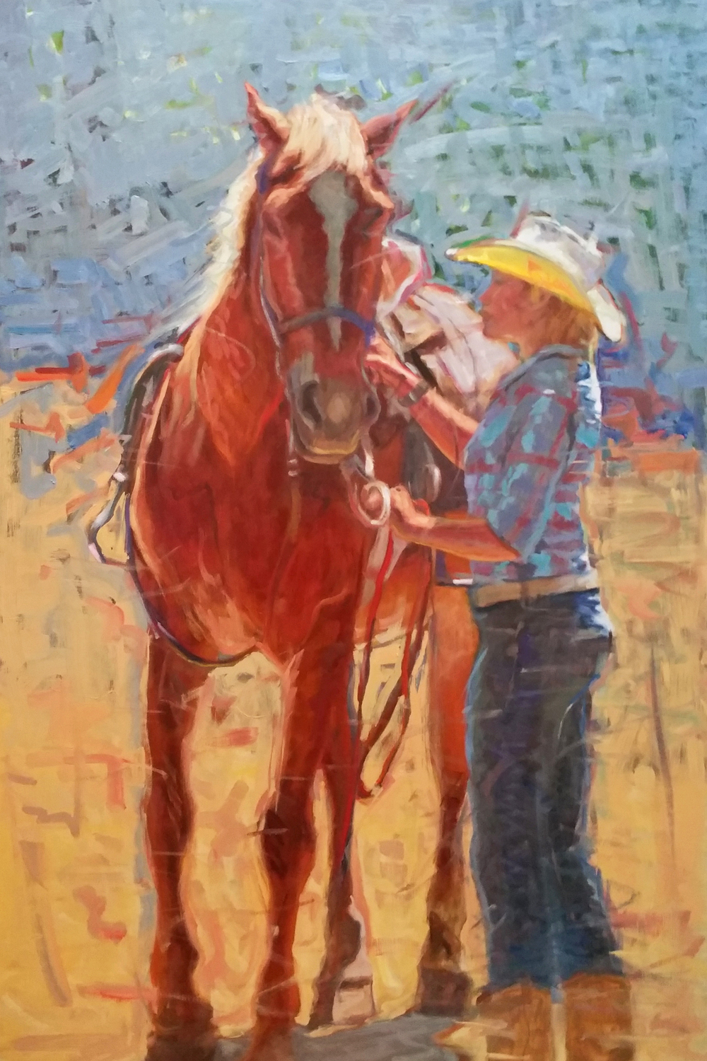 Cowgirl/Ready to Ride 24x36