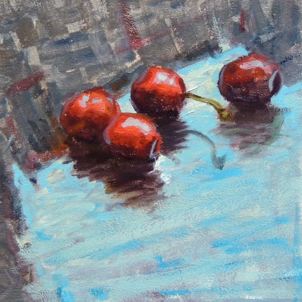Summer's Cherries 8x8