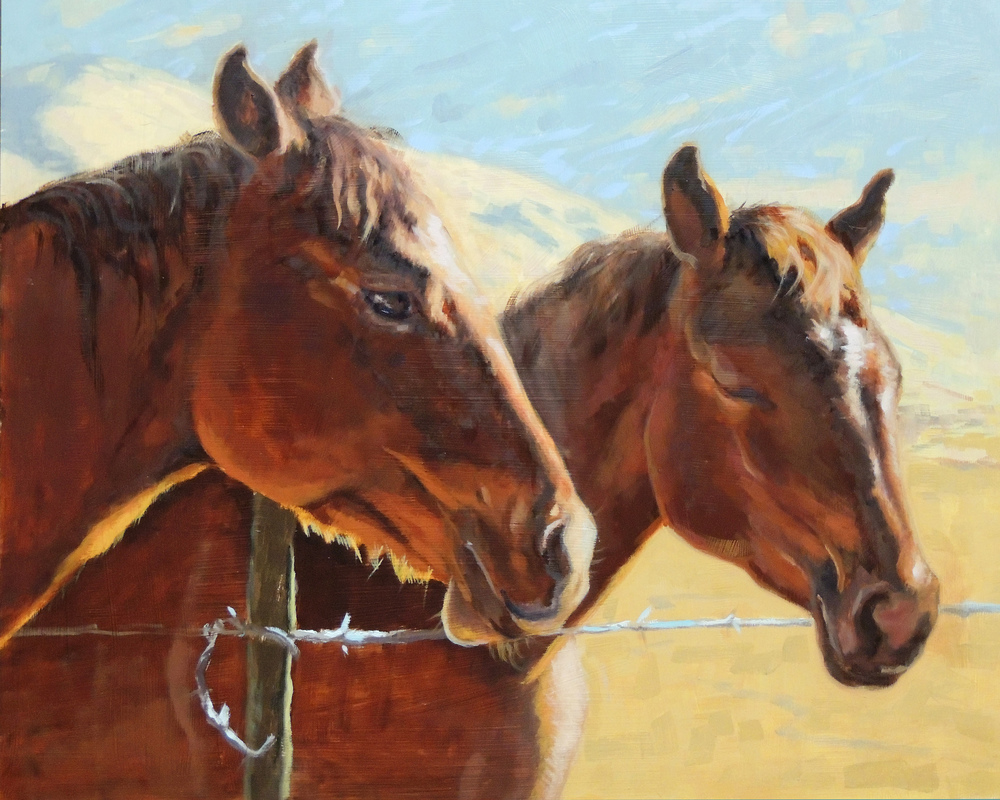 Sunlit Horses 16x20