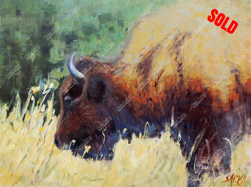 Mighty Bison, 18x24