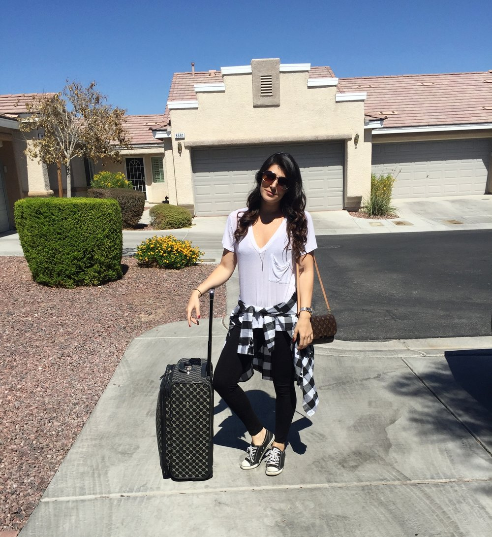 travel,weekendgetaway,lasvegas,sanfrancisco,travelingbeauty,outfit,fashion,luggage,plaid,louisvuitton,handbag,bag,favoritelouisvuitton,style,travelinstyle