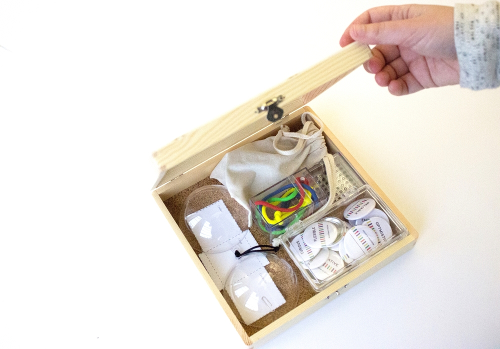 Fig.2: prototype of a tool box, inviting new students to co-create the learning community