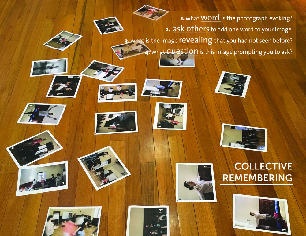 Photos of the system map (4D mapping) are used to create a space of collective remembering.